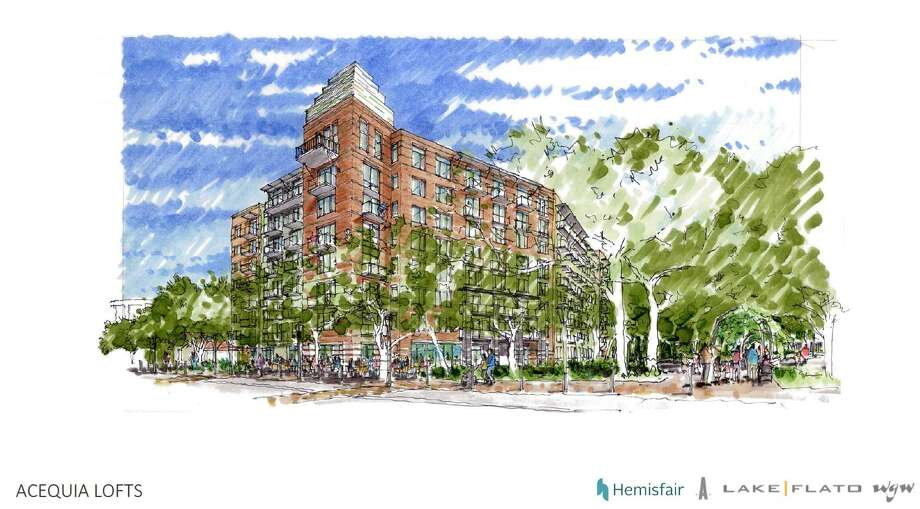 The city Historic and Design Review Commission approved plans to build a 150-unit apartment complex in Hemisfair named Acequia Lofts. Photo: Historic And Design Review Commission