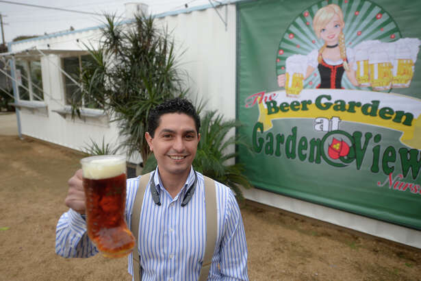 Jorge Hernandez, owner of the Beer Garden at Garden View, stands by a kitchen building located in the outdoor seating area Wednesday, Dec. 7, 2016. James Durbin/Reporter-Telegram