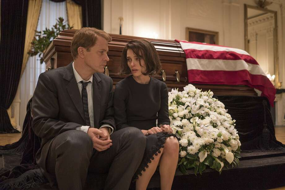 "Peter Sarsgaard as Bobby Kennedy and Natalie Portman as Jackie Kennedy in ""Jackie."" Photo: Bruno Calvo, Associated Press"