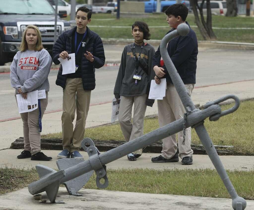 Nimitz Middle showcases school's Navy roots - San Antonio Express-News