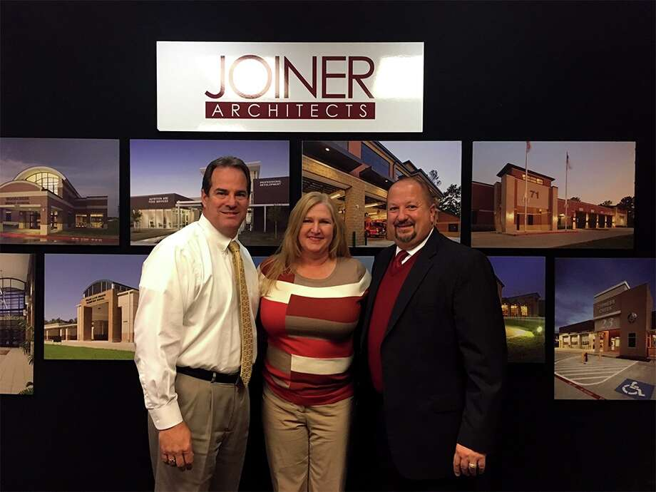 Scott Brady with wife, Tracy, and Lake Houston Area Chamber of Commerce board chair, Robert Sitton. Photo: Submitted