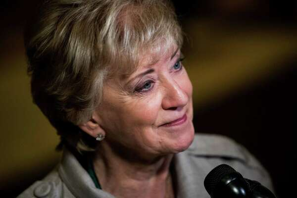 Linda McMahon, former CEO of World Wrestling Entertainment (WWE), at Trump Tower, November 30, 2016 in New York City. President-elect Donald Trump will nominate wrestling executive Linda McMahon to serve as administrator of the Small Business Administration, a Cabinet-level position.