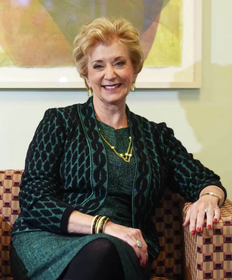 Connecticut businesswoman and executive Linda McMahon poses at her office in Stamford, Conn. Tuesday, Feb. 2, 2016. President-elect Donald Trump will nominate wrestling executive Linda McMahon to serve as administrator of the Small Business Administration, a Cabinet-level position. Photo: Tyler Sizemore / Hearst Connecticut Media / Greenwich Time