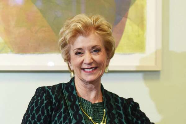 Connecticut businesswoman and executive Linda McMahon poses at her office in Stamford, Conn. Tuesday, Feb. 2, 2016. President-elect Donald Trump will nominate wrestling executive Linda McMahon to serve as administrator of the Small Business Administration, a Cabinet-level position.
