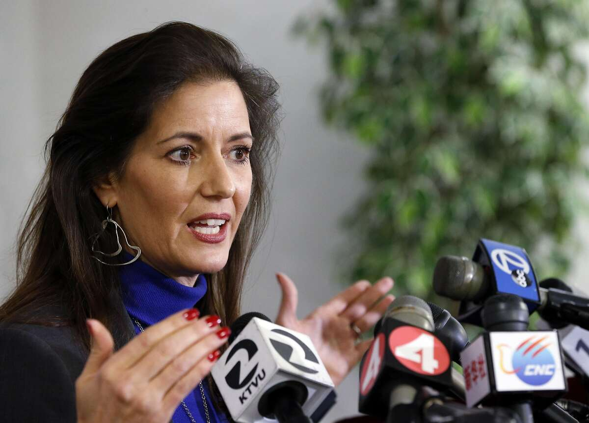 Oakland Mayor Libby Schaaf during a press conference where officials addressed the status of the Ghost Ship fire that claimed 36 lives in Oakland, Calif., on Wednesday, December 7, 2016.