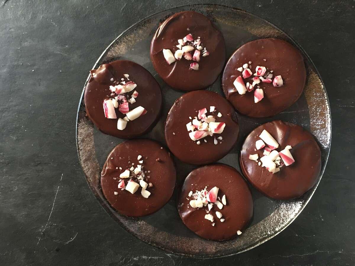 Nostalgic flavors inspire holiday baking: Pomegranate Thumbprint Cookies; Almond Roca Bars, Chocolate Peppermint Cookies; Mini-Chocolate-Pecan Cookies;
