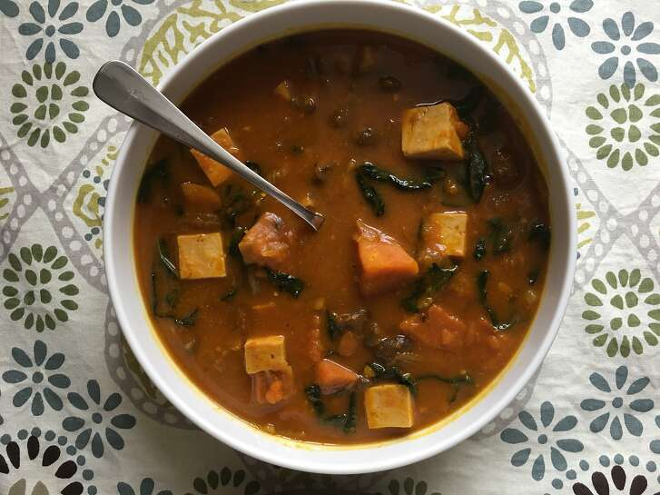"Kabocha squash from the farmer's market inspires a warming ""stoup"" for the cold weather."