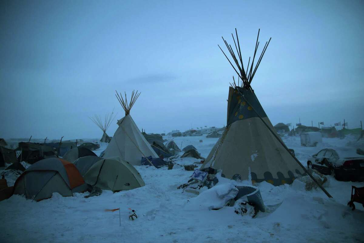 Temperatures dropped below zero overnight this week and gusts of wind up to 55 mph hit the camp of protesters who oppose the Dakota Access Pipeline.
