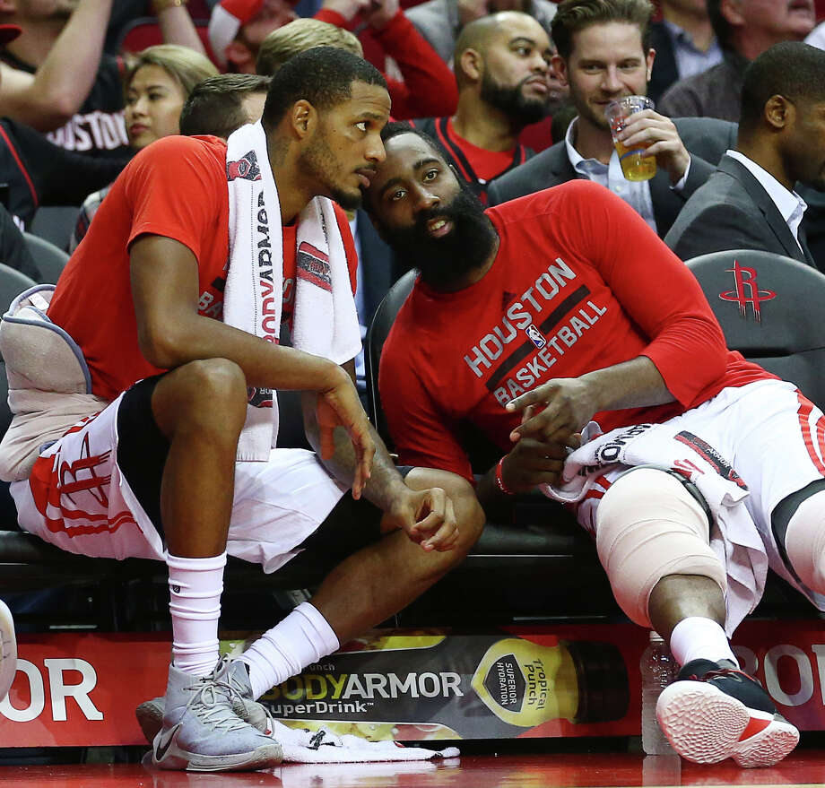 PHOTOS: Who other NBA players think should win the league's MVP awardHouston Rockets forward Trevor Ariza (1) talks with guard James Harden (13) during the fourth quarter of an NBA game at the Toyota Center, Wednesday, Dec. 7, 2016, in Houston. Photo: Jon Shapley, Houston Chronicle / © 2015  Houston Chronicle