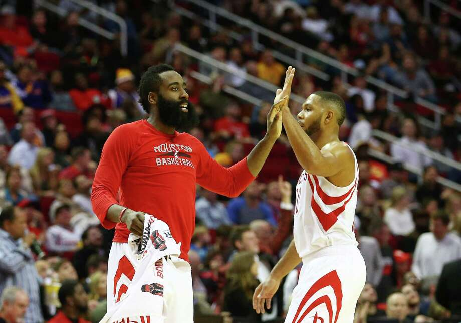With 10 road wins, including against San Antonio, Golden State and Oklahoma City, the Rockets could make a case to be mentioned among the contenders. Photo: Jon Shapley, Staff / © 2015  Houston Chronicle