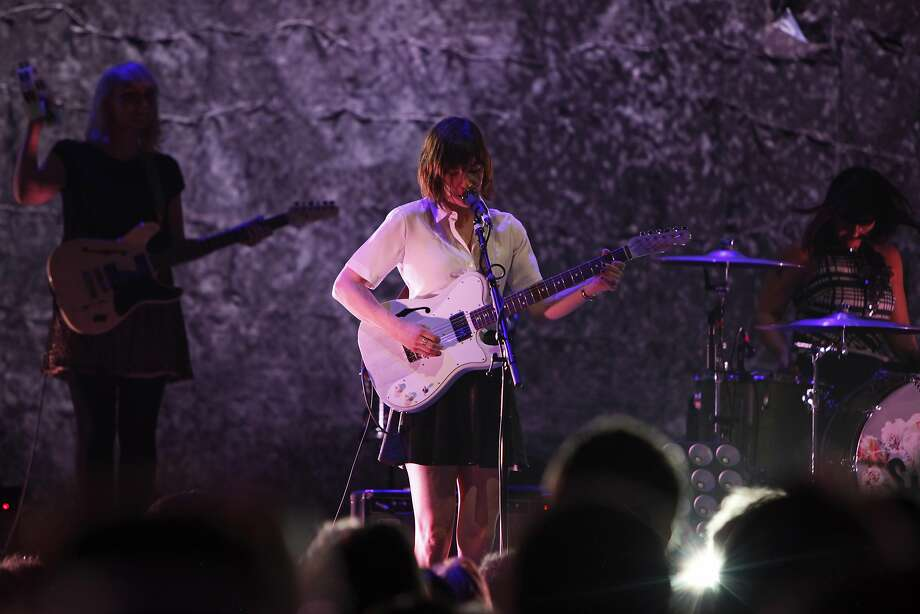 Carrie Brownstein of Sleater-Kinney performs at the Nob Hill Masonic Center in San Francisco, Calif. Saturday, May 2, 2015. Photo: Jessica Christian, The Chronicle