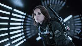 "Felicity Jones stars s Jyn Erso in a scene from ""Rogue One: A Star Wars Story."""
