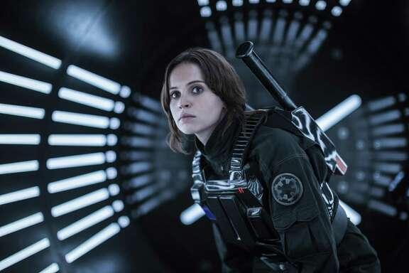 "Felicity Jones stars s Jyn Erso in a scene from ""Rogue One: A Star Wars Story."""