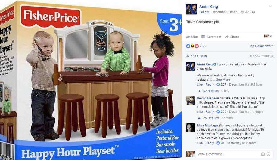 People on social media were freaking out over this fake Fisher Price Happy Hour Playset, but of course it isn't real.