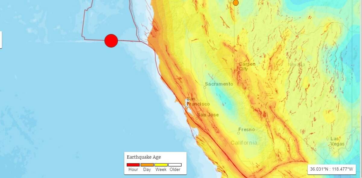 USGS detected a 6.5 magnitude earthquake off the coast of California on December 8th, 2016