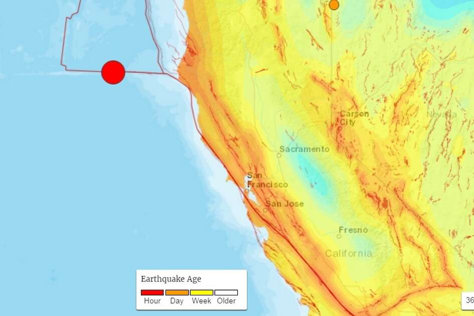 USGS detected a 6.8 magnitude earthquake off the coast of California on December 8th, 2016