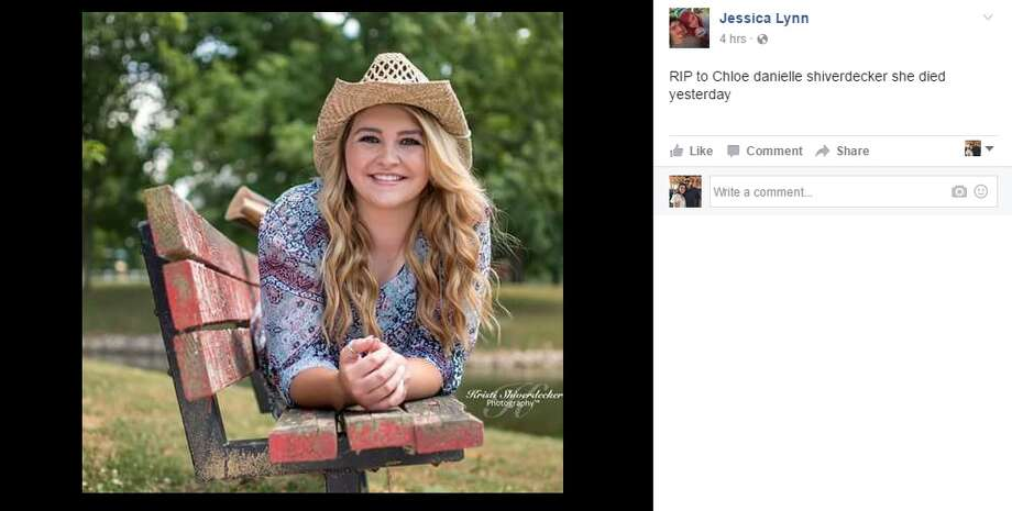 Chloe Danielle Shiverdecker, 17, was killed in a car crash Dec. 7, 2016. Tributes to the teenager from her friends and family began to pour in on Dec. 8, 2016. Photo: Courtesy/Facebook