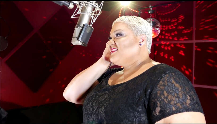 Singer Christina Wells recorded a cover of 'Hairspray' anthem 'I Know Where I've Been.' Photo: Screenshot (West Side Recording Studios)
