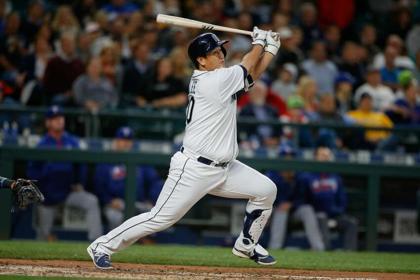 Nov. 3, 2016: Five players from the Mariners' 2015 squad: first basemen Dae-Ho Lee (above) and Adam Lind, outfielder Franklin Gutierrez, catcher Chris Ianetta and right-handed pitcher Drew Storen become free agents. Letting Lee and Lind walk means the team will be looking to give rookie Dan Vogelbach a long look at first base in the spring.