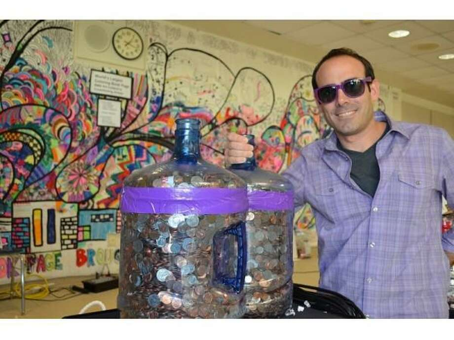 Kevin Cuccaro, an eighth-grade math teacher at Bedford and the founder of the Penny Wars. Photo: Contributed Photo / Westport News
