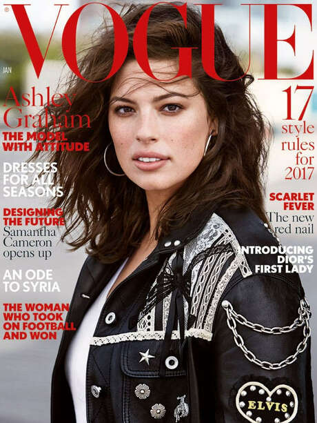 Ashley Graham on the cover of Vogue UK. Photo: Vogue UK
