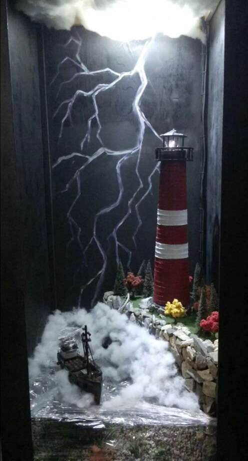 "Robert Keene's entry in the December 2015 ""Festival of the Lighthouses"" contest at the Martime Aquarium at Norwalk, CT. Photo: Contributed Photo / Contributed Photo / Darien News"