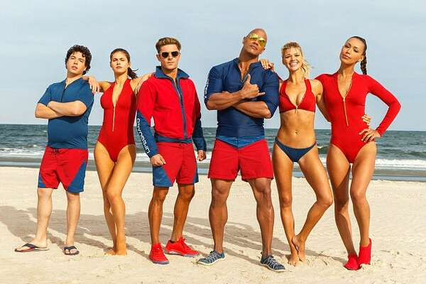"The cast of the ""Baywatch"" movie."