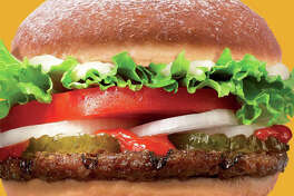 """As a limited-time-only special treat to celebrate Hanukkah in Israel, Burger King has concocted the """"SufganiKing"""" a mashup of its flagship Whopper burger and a traditional Hanukkah sweet pastry called the sufganiyot."""