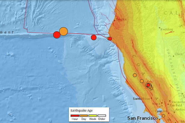 A 6.5 magnitude earthquake off the coast of California on December 8th, 2016, followed aftershocks of 5.2 and 4.9.