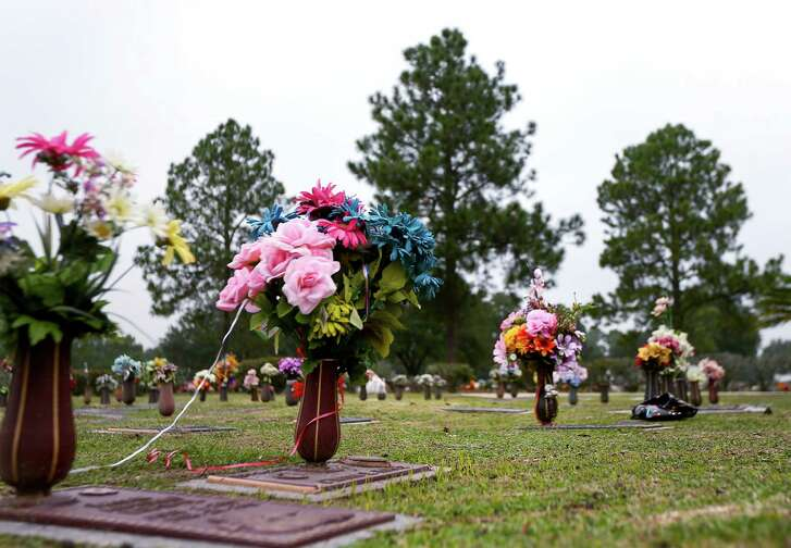 An unmarked grave, belonging to the youngest of eight children adopted by a Houston couple, is seen at Houston Memorial Gardens , Wednesday, Dec. 7, 2016, in Pearland. The couple's seven other adopted children were recently found malnourished and living in one room. The child died on Jan. 30, 2011, at the age of 7.