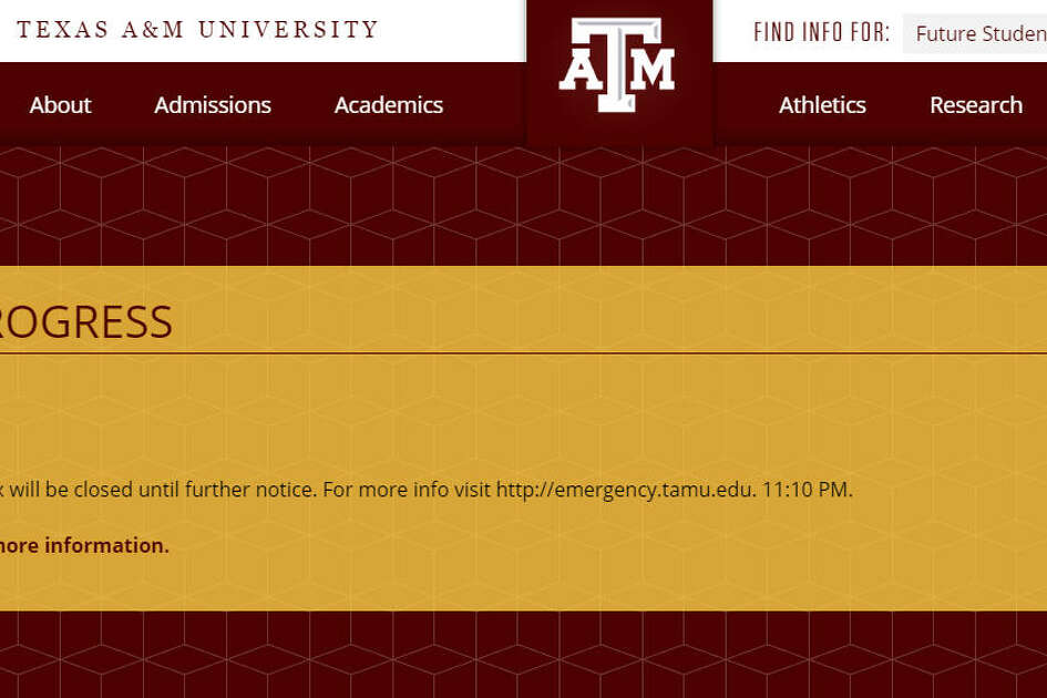 Texas A&M University issued an alert Thursday morning.