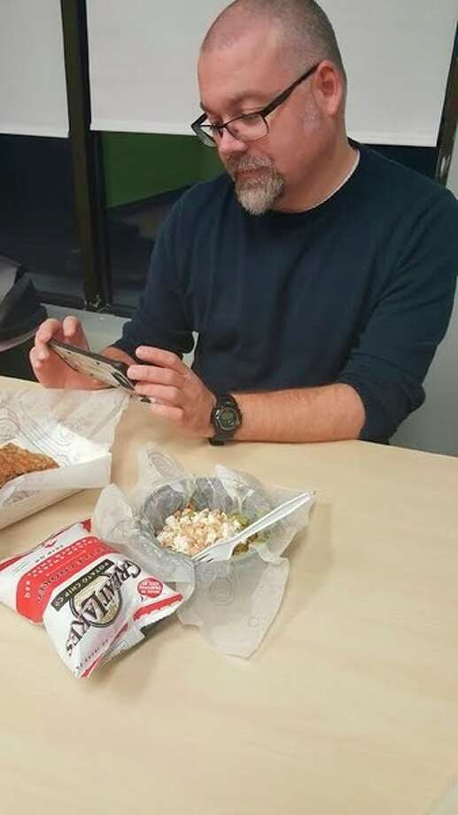 Photo provided. Here, Matthew Woods, the author of the weekly 'Out  to Lunch' takes a photograph of his lunch.