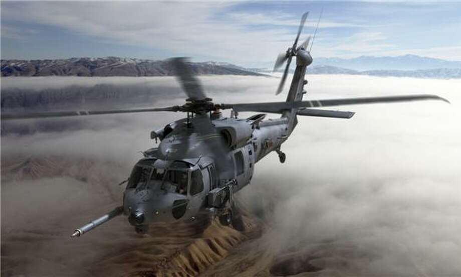 This is an artist's rendering of the new Air Force CRH-60 Combat Rescue Helicopter that Sikorsky will be building for the Air Force. Photo: Contributed Photo / Contributed Photo / Connecticut Post Contributed
