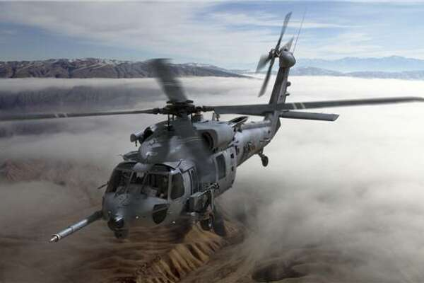 This is an artist's rendering of the new Air Force CRH-60 Combat Rescue Helicopter that Sikorsky will be building for the Air Force.