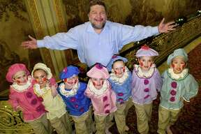 "CEO Philip Morris with ""Nutcracker"" gingerbread children on Thursday, Dec. 1, 2016, at Proctors in Schenectady, N.Y. (Cindy Schultz / Times Union)"
