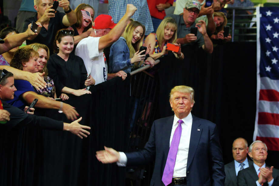 Republican Presidential candidate Donald Trump walks out during a rally, Tuesday, Aug. 30, 2016 at Xfinity Arena in Everett. (GENNA MARTIN, seattlepi.com) Photo: GENNA MARTIN/SEATTLEPI.COM