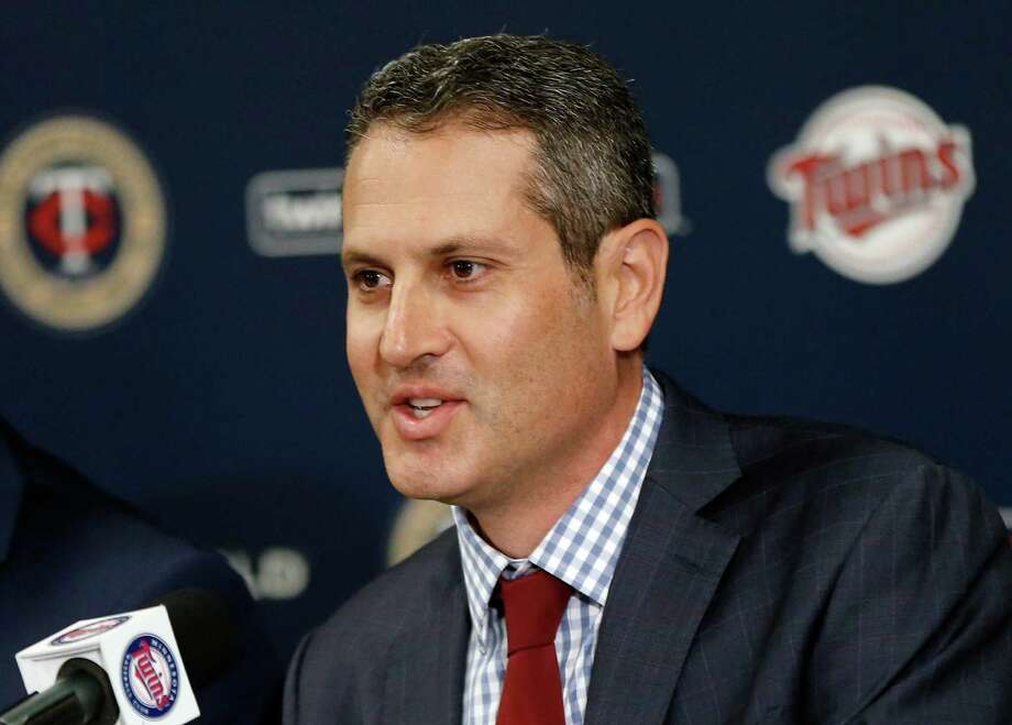CORRECTS TAD TO THAD - Minnesota Twins new general manager Thad Levine addresses the media Monday, Nov. 7, 2016 in Minneapolis.  (AP Photo/Jim Mone) Photo: Jim Mone, STF / Copyright 2016 The Associated Press. All rights reserved.