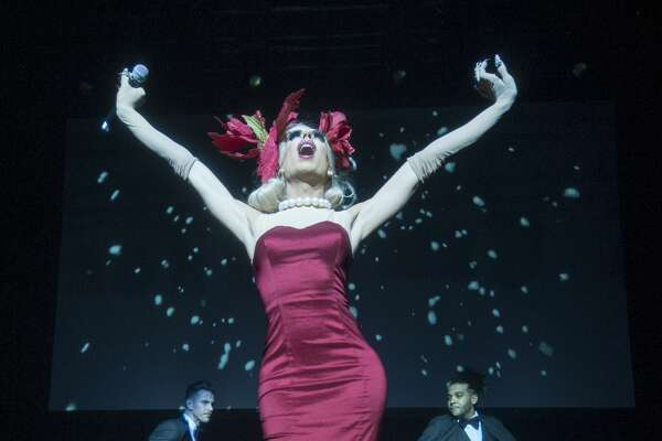 """BIRMINGHAM, ENGLAND - DECEMBER 07:  Alaska Thunderfuck 5000 performs live on stage during RuPaul's Drag Race """"Christmas Queens"""" Show at The O2 Institute Birmingham on December 7, 2016 in Birmingham, England.  (Photo by Katja Ogrin/Redferns)"""