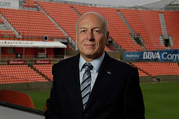 BBVA Compass Chairman and CEO Manolo S‡nchez poses for a portrait at BBVA Compass Stadium Dec. 5, 2016, in Houston. ( James Nielsen / Houston Chronicle )