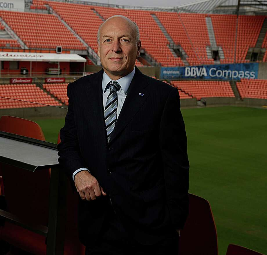 BBVA Compass Chairman and CEO Manolo Sanchez at BBVA Compass Stadium ( James Nielsen / Houston Chronicle ) Photo: James Nielsen, Staff / © 2016  Houston Chronicle