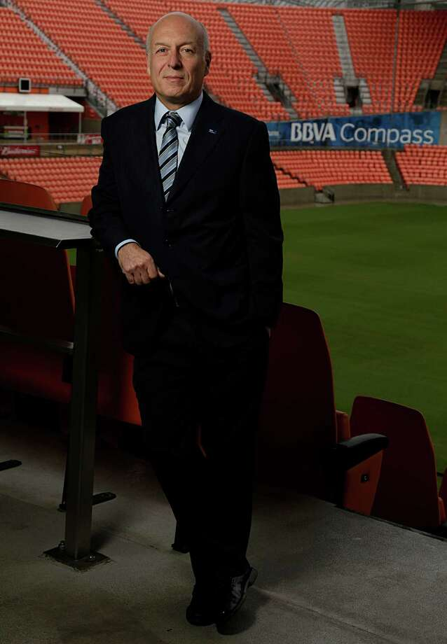 BBVA Compass Chairman and CEO Manolo Sánchez poses for a portrait at BBVA Compass Stadium Dec. 5, 2016, in Houston. ( James Nielsen / Houston Chronicle ) Photo: James Nielsen, Staff / © 2016  Houston Chronicle