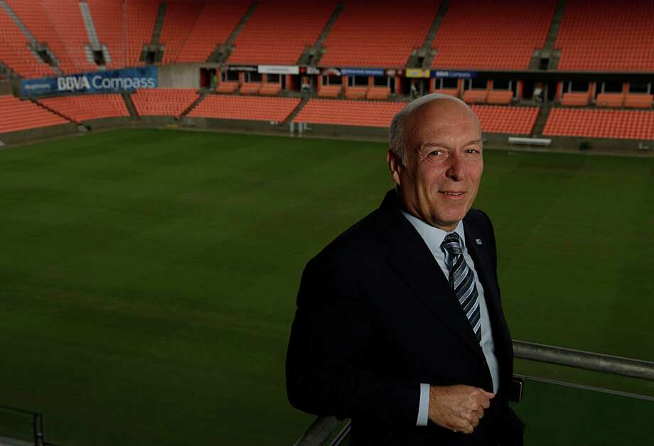 BBVA Compass Chairman and CEO Manolo S‡nchez poses for a portrait at BBVA Compass Stadium Dec. 5, 2016, in Houston. ( James Nielsen / Houston Chronicle ) Photo: James Nielsen, Staff / © 2016  Houston Chronicle