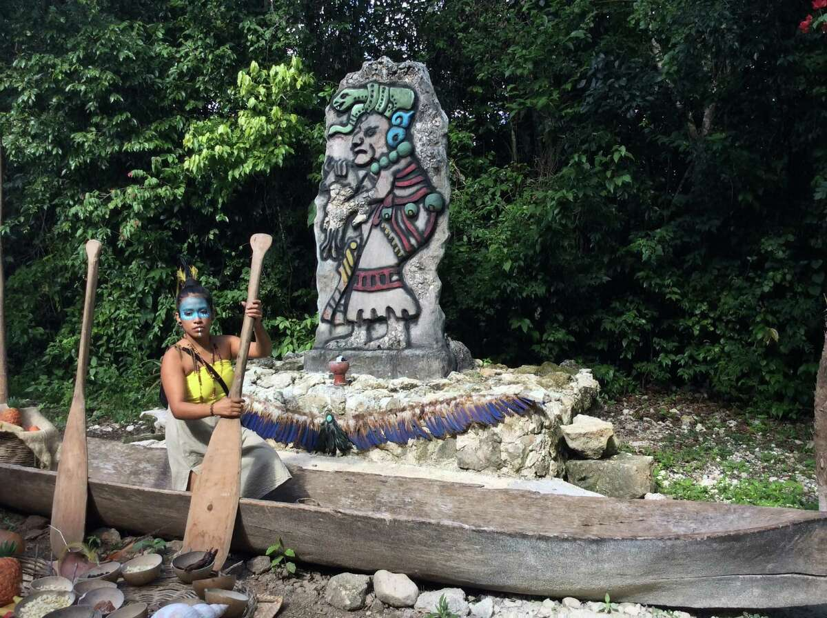The Mayans traveled far in dugout canoes to visit sacred sites for pilgrimages and to make offerings to their gods.