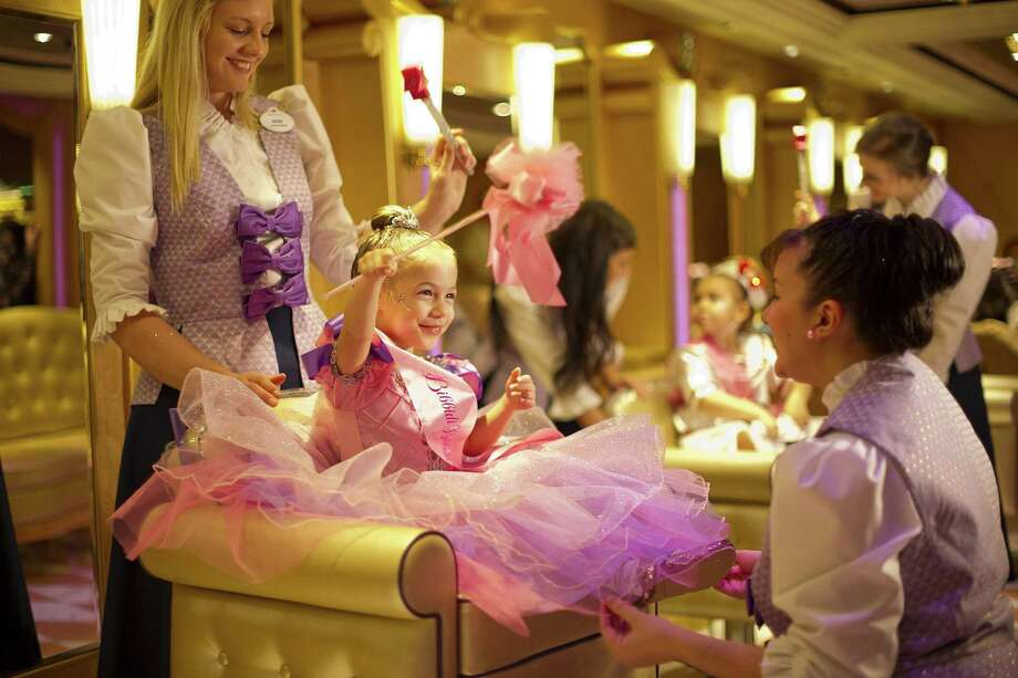 At Bibbidi Bobbidi Boutique, aspiring young princesses receive the full fairy tale treatment with pixie-dusted makeovers at this very special salon. When young princesses-to-be make their royal entrance at the Bibbidi Bobbidi Boutique, they are greeted by their very own Fairy Godmother-in-training who transforms them with magical makeovers. Photo: Matt Stroshane /Disney