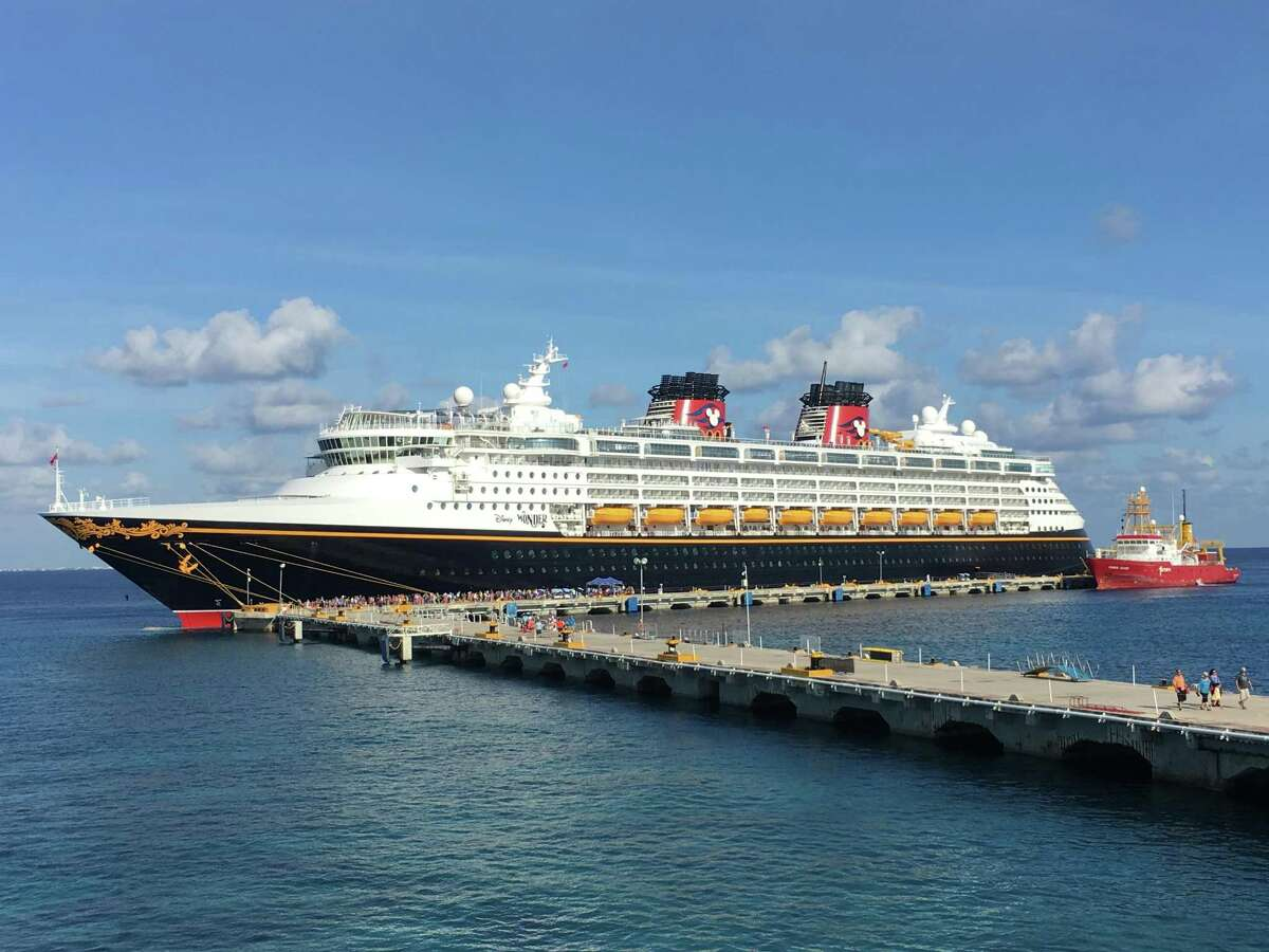"""The Disney Wonder is sailing out of Galveston through most of January, with events on board to fascinate """"Frozen"""" fans and wannabe pirates and super heroes."""
