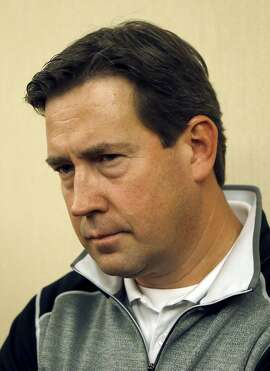 San Francisco Giants general manager Bobby Evans listens to a question as he talks with the media during baseball's annual general managers meeting Wednesday, Nov. 9, 2016, in Scottsdale, Ariz. (AP Photo/Ross D. Franklin)
