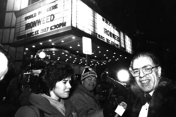 "Author William Kennedy arrives at the ""Ironweed"" premiere on Dec. 17, 1987. (Times Union archive)"