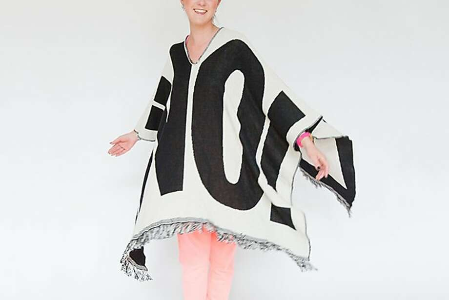 Here's something many in San Francisco could have used the day after Novembers presidential election: a striking protest poncho that screams No! The reversible No-Thing can be worn to say No! or On! depending on the wearers message and mood. $125, http://www.thethingquarterly.com or at The Thing Quarterly, 447 OFarrell St., S.F. Photo: Anna-Alexia Basile