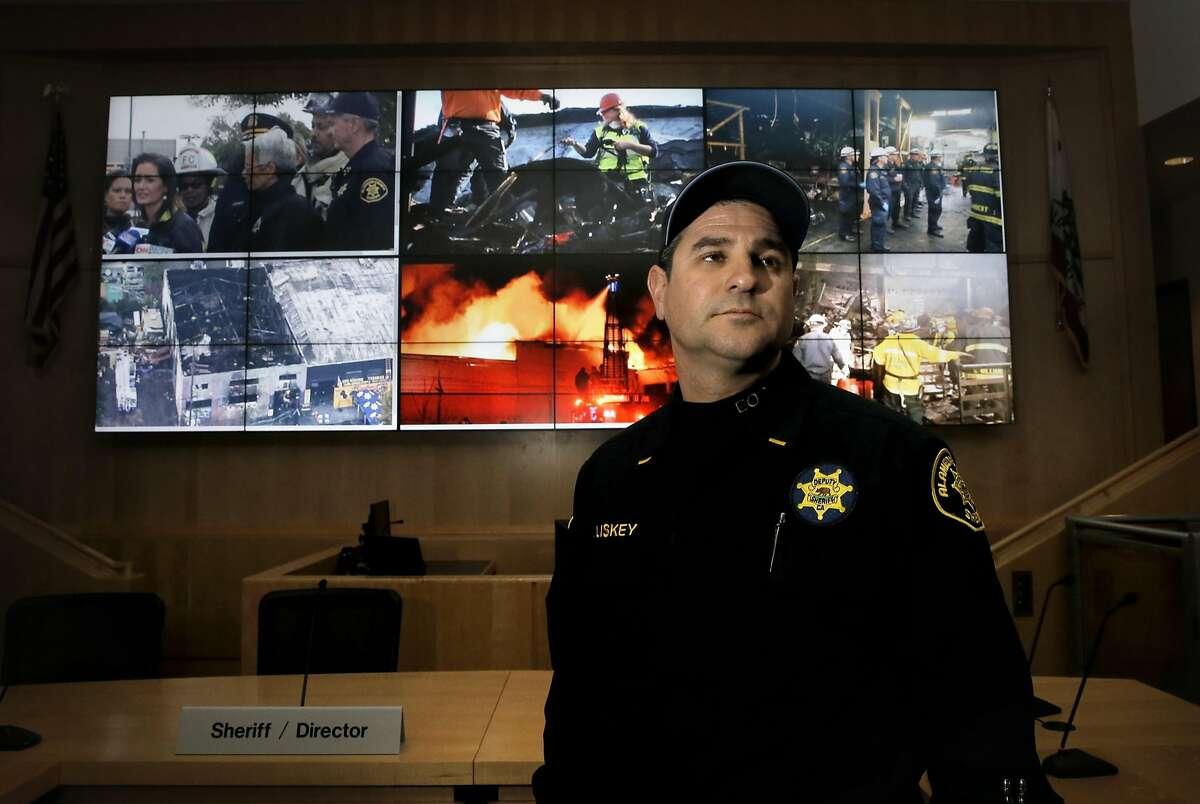 Office of Emergency Services manager Lt. Paul Liskey inside their Emergency Operations Center in Dublin, California, on�Thursday�December 8, 2016.