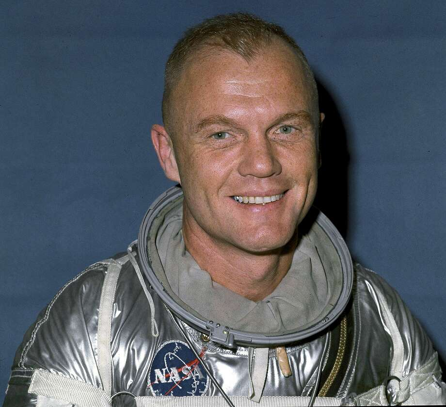 FILE -- John Glenn in Cape Canaveral, Fla., before his flight into space on Feb. 20, 1962. Glenn, who was hailed as a national hero and a symbol of the space age as the first American to orbit Earth, then became a national political figure for 24 years in the Senate, died on Dec. 8, 2016. He was 95. (NASA via The New York Times) **EDITORIAL USE ONLY** Photo: NASA, NYT